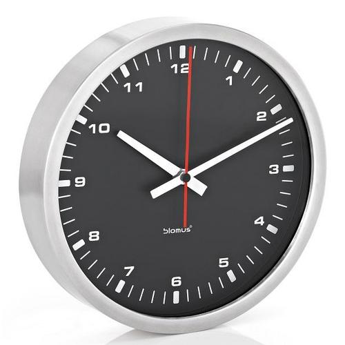 Blomus Часы настенные черные, диаметр 30 см. 63213
